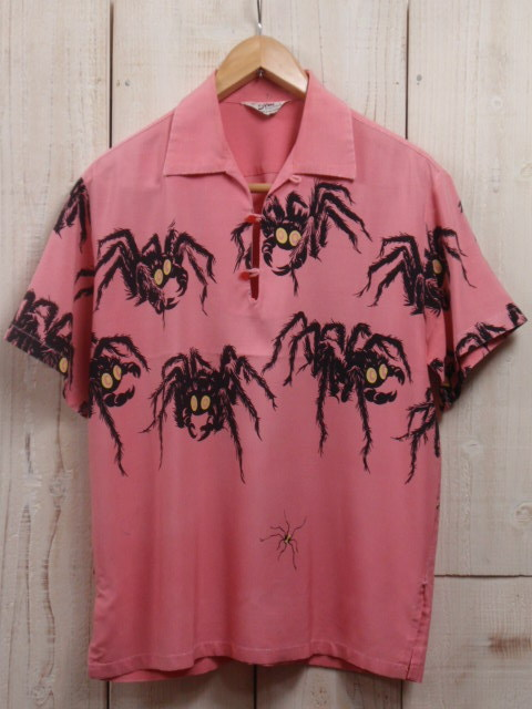 A very rare 1950s Tarantula shirt by Star of Hollywood. These shirts are worth thousands of dollars if found today.