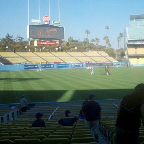 Time for smell baseball :) #dodgers woot woot (Taken with Instagram)