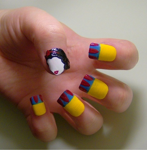 Unhas artísticas incríveis | GEEKISS on We Heart It. http://weheartit.com/entry/31850476