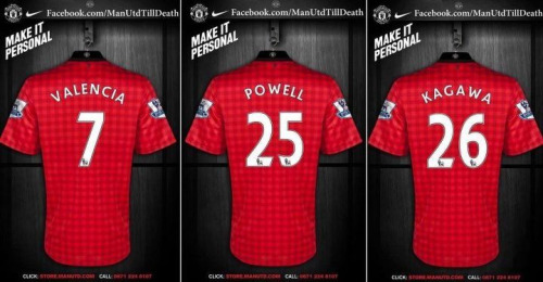 sdggmu:  Valencia will wear number 7! The new signings Kagawa and Powell will wear 26 and 25 respectively.