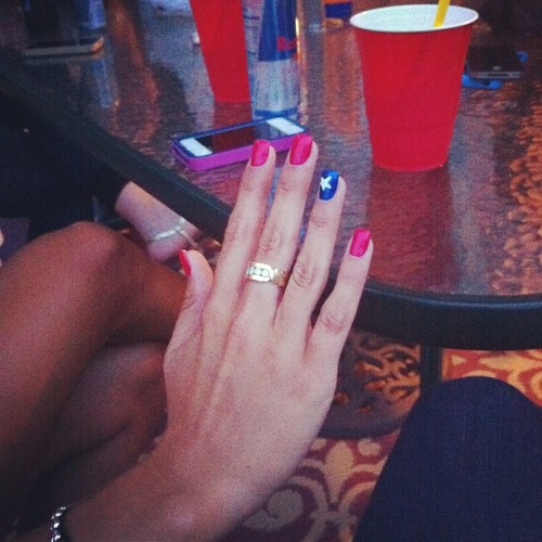 Nails for 4th of July! @angelicak23 #nails #trends #nailfashion #style  (Taken with Instagram)