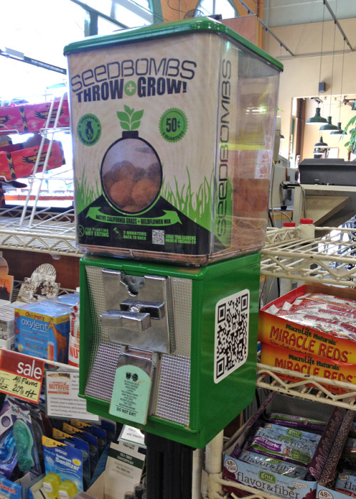 laughingsquid:  Seedbomb Vending Machines: Throw Grow Guerrilla Seed Mixes  YES.