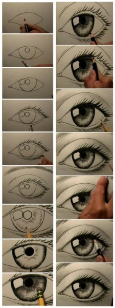 I've always wondered how to draw an eye..