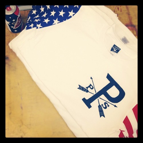 Pete's Print Shop American tees. @lauralounyc repost. If you love 'merica, Budweiser, and the Print Shop. Hit us up!  (Taken with Instagram at Pete's Print Shop)