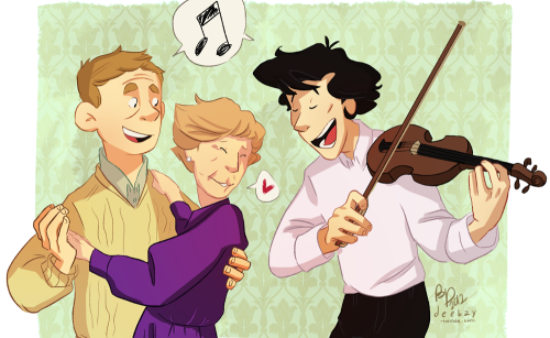 I want there to be a thing where John and Sherlock throw Mrs. Hudson a tiny birthday party and it's just the three of them and they eat cake and maybe have some wine or something, and John and Mrs. Hudson dance while Sherlock plays violin and they sing Happy Birthday and it's just really cute.