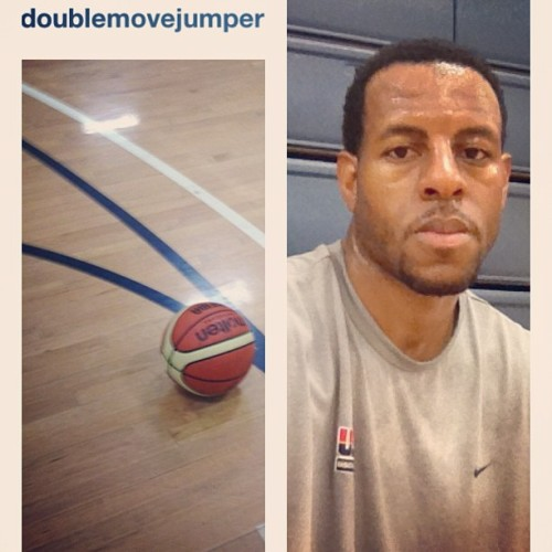 Far be it from me to call Andre Iguodala an artist, but he really knows his way around Instagram. Most ballers just slap an Amaro or Sutro filter on there and call it a day. Though I ain't got a fucking clue what doublemovejumper means.