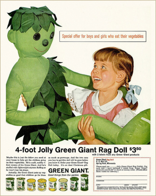 LOVE ME GREEN MAN  retrogasm:  If I eat my veggies I should not have to pay $3.50 for a green doll…