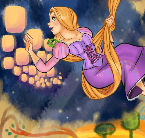 becausesometimesdreamsdocometrue:  Rapunzel by AninhaT-T.