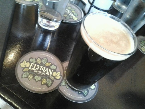 split shot espresso milk stout at elysian brewing co. Perfection.