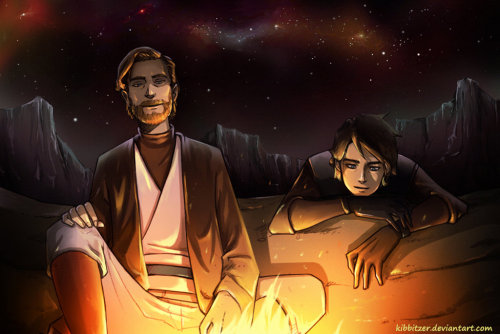 becausesometimesdreamsdocometrue:  Obi wan and Anakin by Kibbitzer.