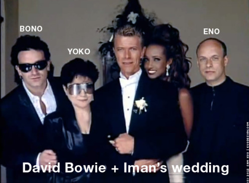 David Bowie + Iman's wedding photo