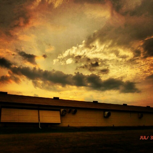 #sky #clouds #barn #grass (Taken with Instagram)
