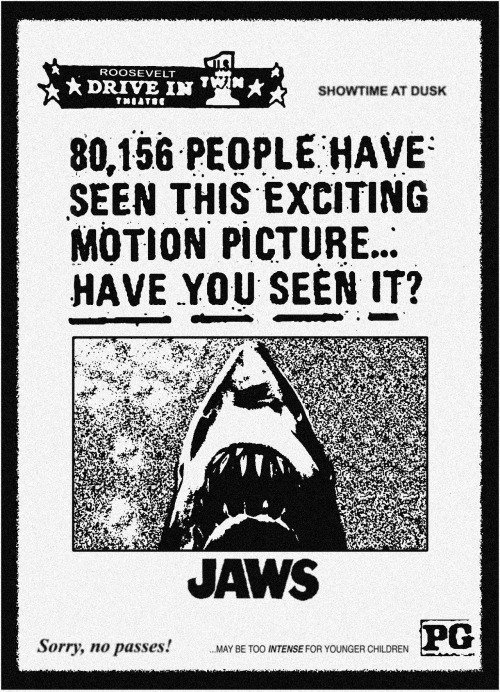 sharkcity:  J-Pic of the Day: Vintage news paper ad.   Yeah!