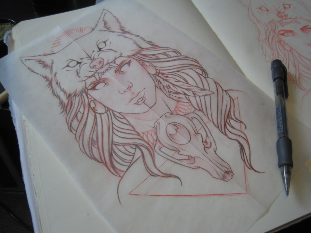 Watching Princess Mononoke and doodling and this happened.