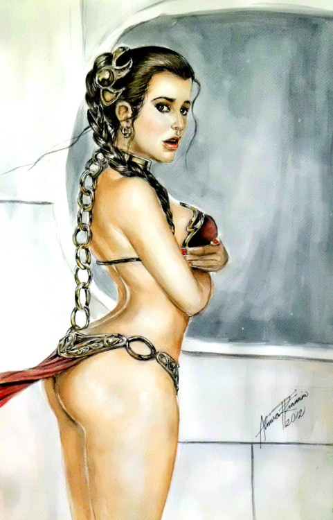 starwarsgonewild:  Princess Leia by ALMIRA FRANCISCO, available for sale on ebay.