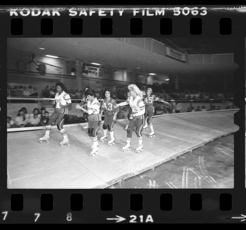 Los Angeles T-Birds roller derby game, 1983.