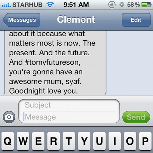 ☺  #iphoneconvos #tomyfutureson #love #memories #keepsake #words  (Taken with Instagram)