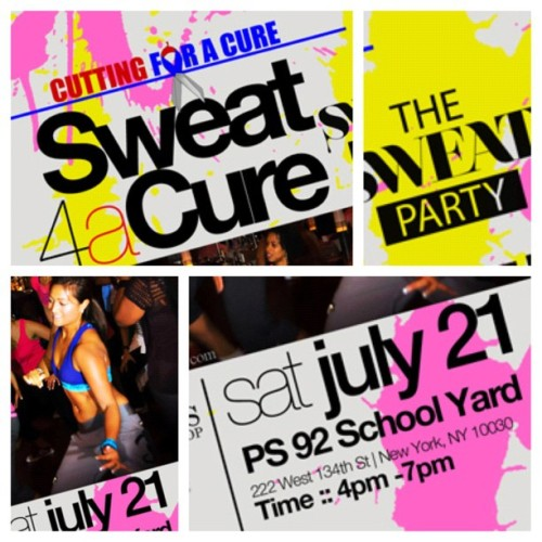 #TaniaOnTheScene || Sweat 4a Cure with @TheSweatParty graelife:  One of my dreams in life is to do a sweatparty OUTSIDE like a block party. Well sweat 4 a Cure is going down in HARLEM NYC July 21 with @dennymoe . 48 hrs of cutting hair for Aids research . This is gonna be insaaaaaaaane ( Crazy Eddie voice ) (Taken with Instagram)
