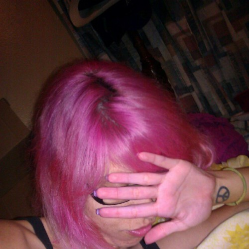 #pink #dollswithdye #manicpanic I can't wait to straighten it! I am #chibiusa (Taken with Instagram)