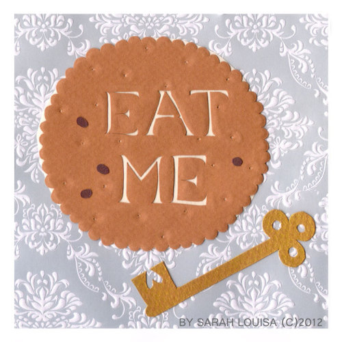 Eat Me  Handmade archival paper cookie For Afternoon Delights June 2012 (c) Sarah L Dunn 2012