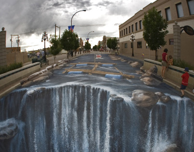 ones-vision:  3D chalk art.