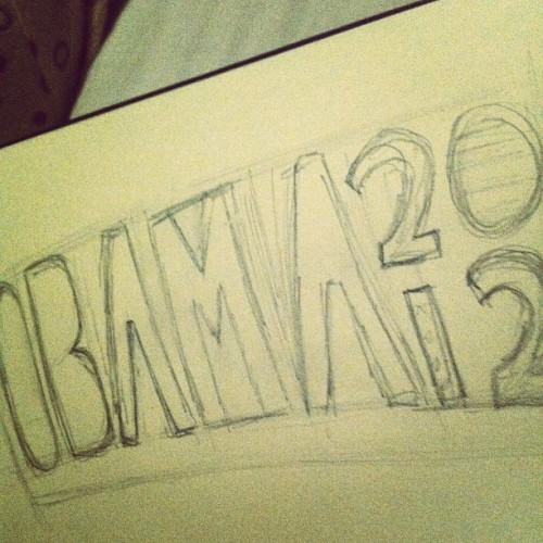 #obama 2012! #moleskine #sketch (Taken with Instagram)