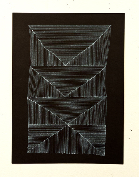 Brian Cypher Triangle Stack, 2012 ink on paper 9 x 12 inches