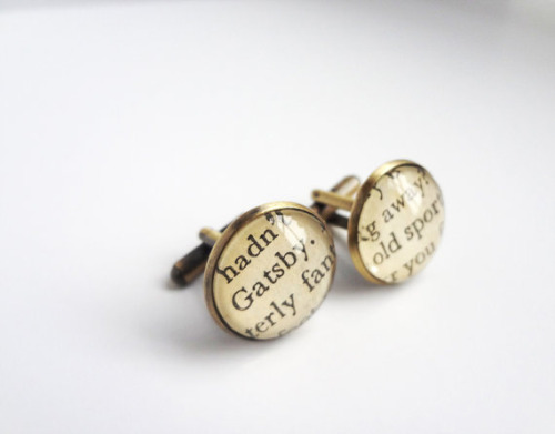 teachingliteracy:   gatsby book cufflinks (by amyinla2011)