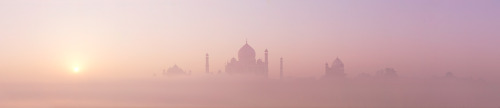 The Taj Mahal at sunrise - Agra, India