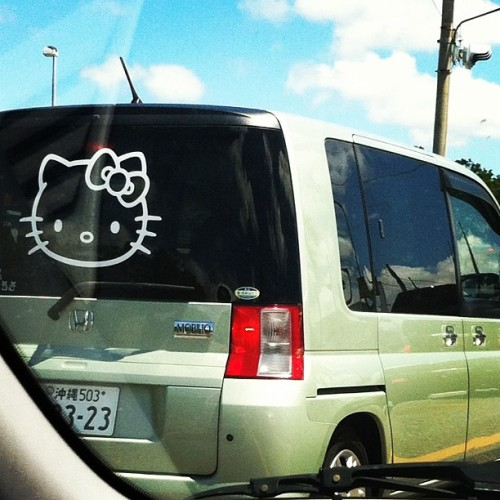 Only in Japan do you see people reppin' #hellokitty all day longggg! 😍 #okinawa (Taken with Instagram)