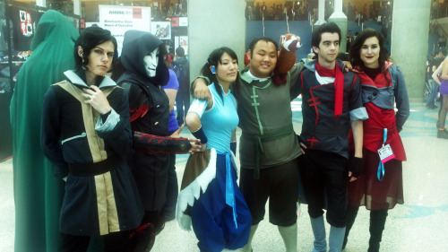 The gang. :D Korra:http://www.facebook.com/pages/Melody-Chukairi/240195309421270 Amon:http://www.facebook.com/pages/DJ-Dark-Kenjie-Welch-Fan-Page/294499773898283 Tahno:http://aicosu.tumblr.com/