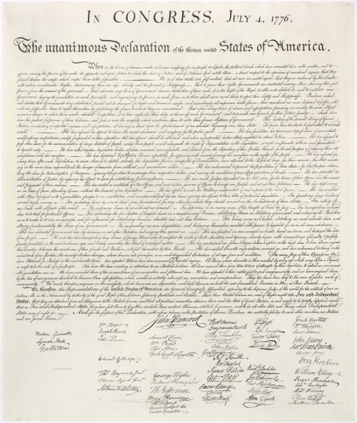 sooner961:  Declaration of Independence, July 4, 1776