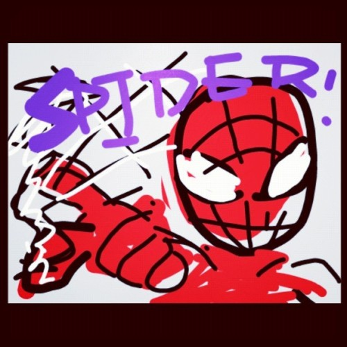 #cubie #spiderman (Taken with Instagram)