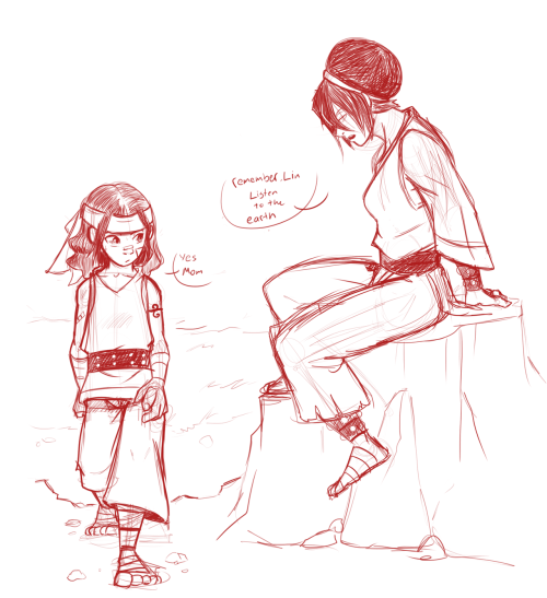 mamasam:  chickenmask:  more doodles! this time of Momma Toph and little Lin x3  PRETTY MUCH PERFECT. VERY MUCH. Mom!Toph is my favorite <3