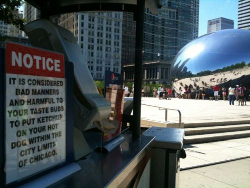 "neighborhoodr-chicago:  ""Just a friendly reminder from your favorite encased meat to enjoy the holiday responsibly"" (via reddit.com)"