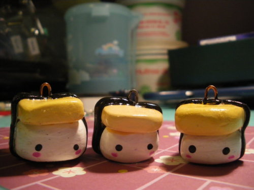 you can tell i was super craving tamago sushi when i made these charms :P