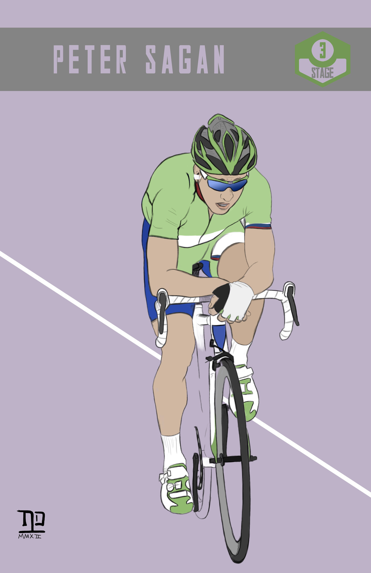lastpolkadesign:  Tour de France: Stage 3 winner, Peter Sagan  ©nathan dallesasse
