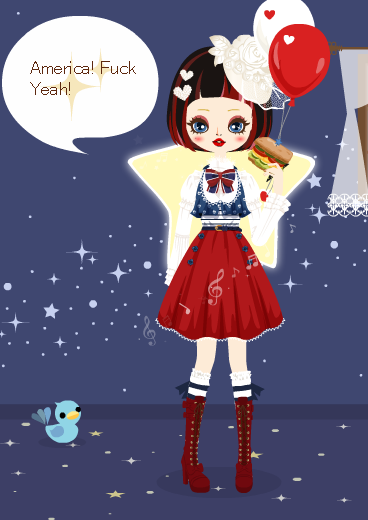 the-would-be-king:  My Poupee's point of fashion today is FREEDOM.