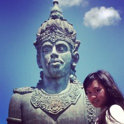 Me with my ex~~ #gwk #rock #bali #beautiful #natural #indonesia #awesome #love #ipadnesia #vocation #instapad #family #plazakrisna (Taken with Instagram)