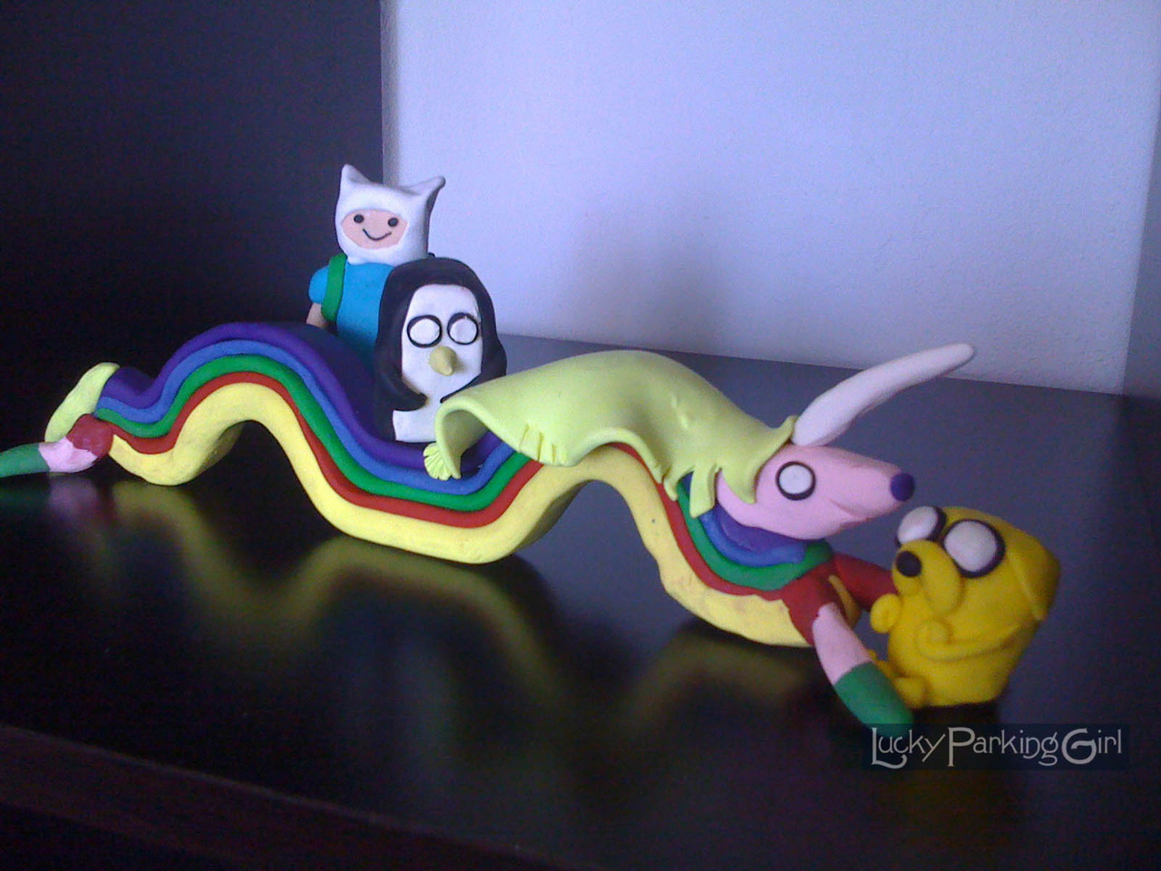 'My entire family loves Adventure Time. Here are just some of the clay figures we've made.' Thanks luckyparkinggirl for the submission.