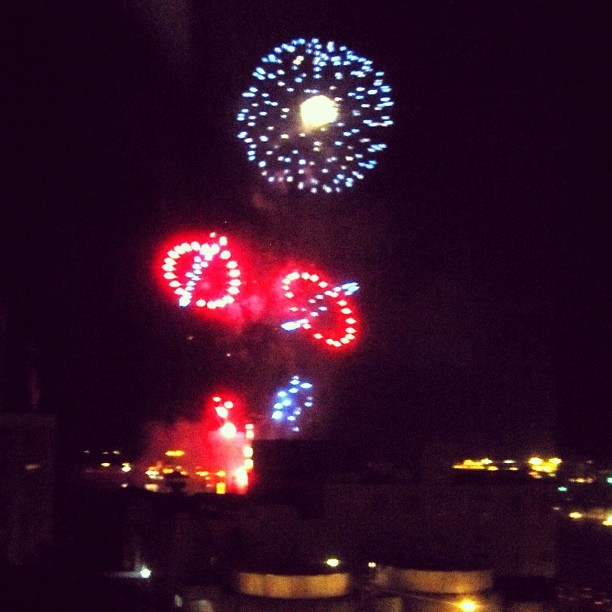 Pre-fourth of July #fireworks from Aloha Tower #honolulu #4thofjuly (Taken with Instagram at Harbor Square - Town Tower)