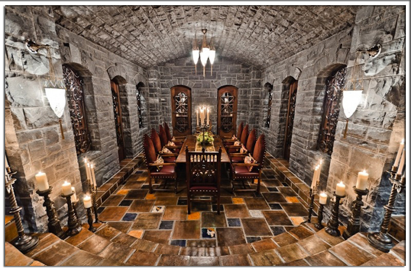Celine Dion's private wine cellar in her Montreal island estate. https://www.facebook.com/PriceyPadshttp://priceypads.com
