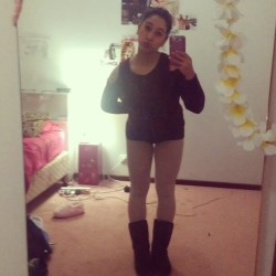 #ballet #chills #uggs #stockings #pout #cold #winter #legs #jumper #bow #bun #dancer  (Taken with Instagram)