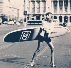 This is no prank - Chanel actually makes surfboards. What's your summer sport of choice?