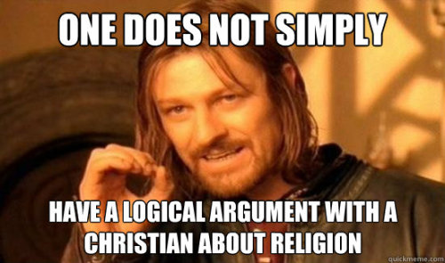 "atheist-overdose:  How religious debates really workfollow for the best atheist posts on tumblr  Actually yes you can. Some of them are just, well, so priveledged by the prevalence of their religion that they honestly have never yet heard an argument against it. Or some people are not nut-head weirdos and hold onto their religion for dear life. Some are more liberally religious and are willing to have a discussion. Yes, they exist.  Also if I see another ""follow for the best atheist posts on tumblr"" hurr durr shit on my dash again… I swear…"