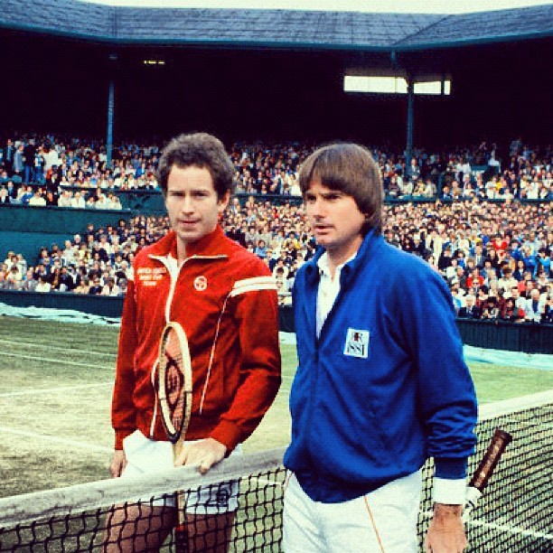 #johnmcenroe and #jimmyconnors before the #1982 #wimbledon men's single final #tennis #sports #history #flashback #legends #sportstrib (Taken with Instagram)