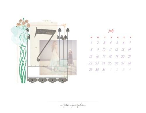 Loving the new Free People July calendar!!