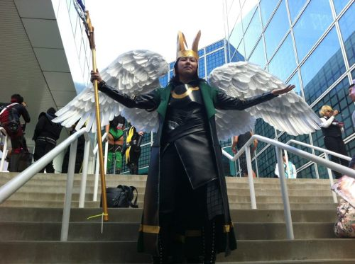 me at anime expo 2012 now preparing to fix some things for my loki cosplay as this was my first run in the cosplay =] will post about progress