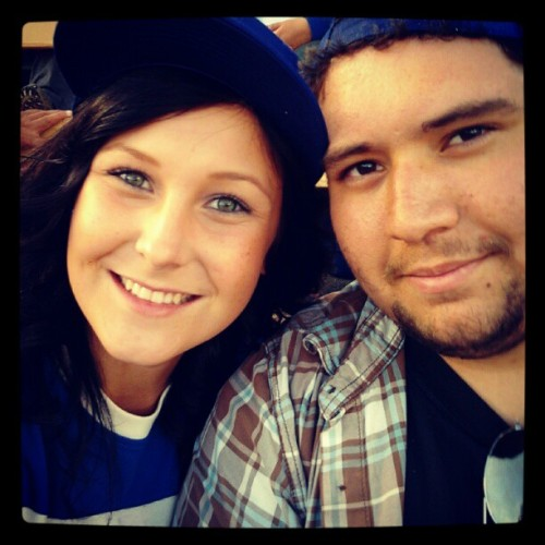 Surprised him! <3 (Taken with Instagram at Dodger Stadium)