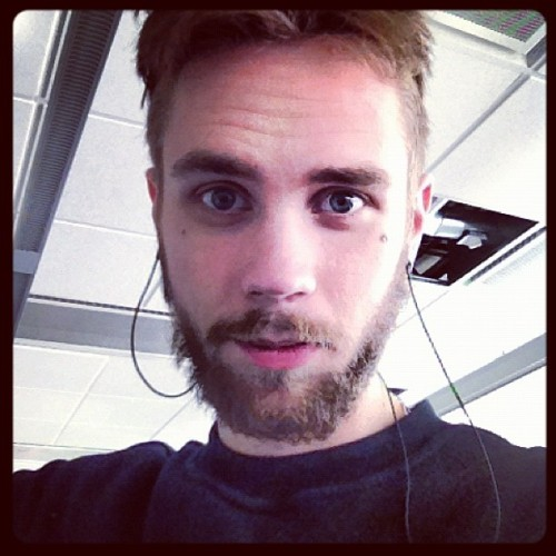 #beard #blueeyes #blue #eyes - Ryan Dunn beard progress  (Taken with Instagram)